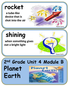 ReadyGen Planet Earth Vocabulary 2nd Grade Unit 4 Module B