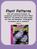 ReadyGen Plant Patterns Vocabulary Kindergarten Unit 5 Module B