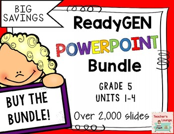 ReadyGen PowerPoints 2016 - BUNDLED - Grade 5