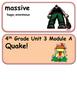 ReadyGen Quake! Vocabulary 4th Grade Unit 3 Module A