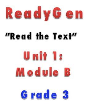 ReadyGen READ THE TEXT 1B Gr 3 Lesson Plans *DANIELSON FORMAT*