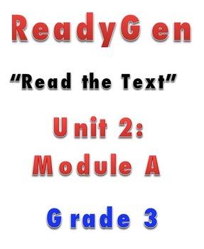 ReadyGen READ THE TEXT 2A Gr 3 Lesson Plans *DANIELSON FORMAT*