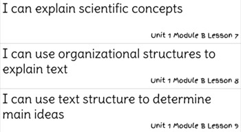 ReadyGen Reading Unit 1 Modules A&B I Can Statements