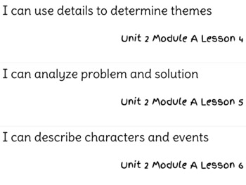 ReadyGen Reading Unit 2 Modules A&B I Can Statements
