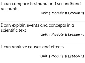 ReadyGen Reading Unit 3 Modules A&B I Can Statements
