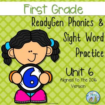 ReadyGen (Ready Gen) Phonics Unit 6 First Grade 2016