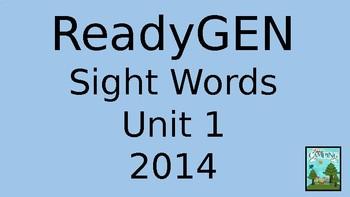 ReadyGen (Ready Gen) Sight Words Unit 1 2014