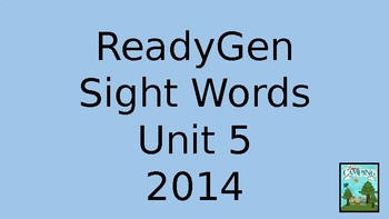 ReadyGen (Ready Gen) Sight Words Unit 5, 2014