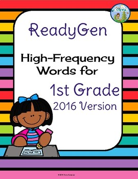ReadyGen (Ready Gen) Sight Words Units 1-6, 2016 Version
