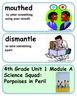 ReadyGen Science Squad: Porpoises in Peril Vocabulary 4th Grade Unit 1 Module A