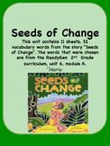 ReadyGen Seeds of Change Vocabulary 2nd Grade Unit 6 Module A