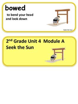 ReadyGen Seek the Sun Vocabulary 2nd Grade Unit 4 Module A