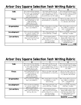 ReadyGen 2016 Selection Test Writing Rubric: Arbor Day Square
