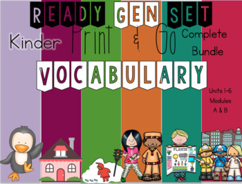 ReadyGen Set Vocabulary Complete Bundle for Kindergarten