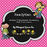 ReadyGen Benchmark Spanish Vocabulary for Unit 5 Las Lunas