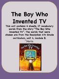 ReadyGen The Boy Who Invented TV Vocabulary 4th Grade Unit 4 Module B