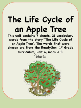 ReadyGen The Life Cycle of an Apple Tree Vocabulary 1st Grade Unit 4 Module B