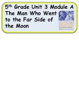 ReadyGen The Man Who Went to the Far Side of the Moon Vocab 5th Grade Unit 3