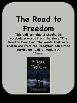 ReadyGen The Road to Freedom Vocabulary 5th Grade Unit 2 Module A