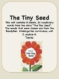 ReadyGen The Tiny Seed Vocabulary Kindergarten Unit 5 Module A