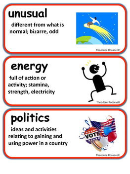 ReadyGen Theodore Roosevelt Vocabulary 2nd Grade Unit 3 Module A