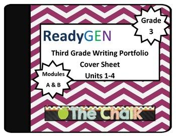ReadyGen Third Grade Writing Portfolio Cover Sheet