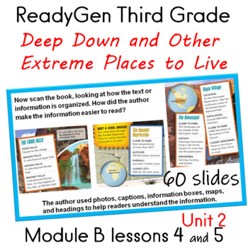ReadyGen Third Grade Unit 2 Module B lessons 4 and 5