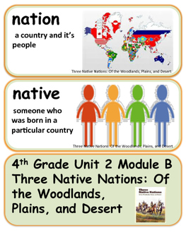 ReadyGen Three Native Nations: Of the Woodlands, Plains, and Desert Vocabulary
