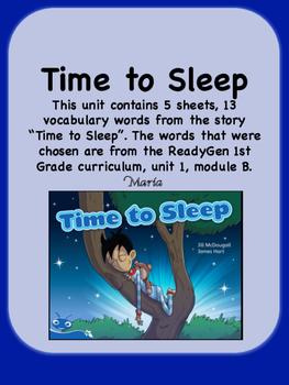 ReadyGen Time to Sleep 1st Grade Unit 1 Module B