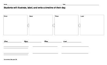 ReadyGen Timeline Writing Paper
