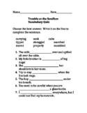 ReadyGen Trouble at the Sandbox quiz