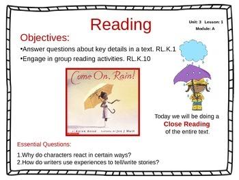 ReadyGen Unit 3 Module A - EDITABLE PowerPoint Lessons - K