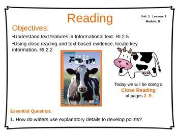 ReadyGen Unit 1 Module B - EDITABLE PowerPoint Lessons - Grade 2