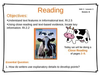 ReadyGen Unit 1 Module B - EDITABLE PowerPoint Lessons - Grade 2