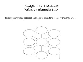 ReadyGen Unit 1, Module B Informative Writing PowerPoint
