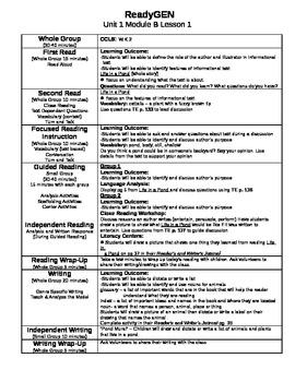 ReadyGen Unit 1 Module B Lesson 1-12 Kindergarten