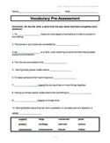 ReadyGen Unit 1 Module B: Vocabulary Assessments for Skeletons Inside and Out