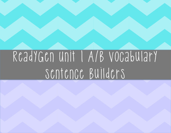 ReadyGen Unit 1 Vocabulary Centers Grade 3