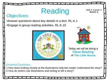ReadyGen Unit 2 Module A - EDITABLE PowerPoint Lessons - Kindergarten