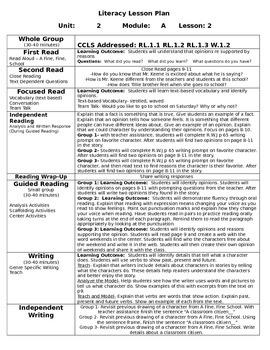 ReadyGen Unit 2 Module A Lessons 1-6