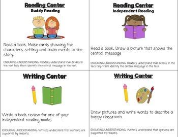 ReadyGen Unit 2 Module A Literacy Center Cards