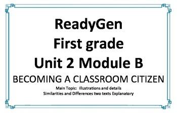 ReadyGen Unit 2 Module B Concept Wall 1st grade