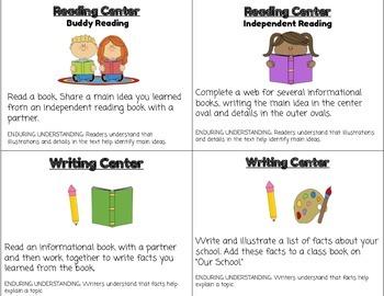 ReadyGen Unit 2 Module B Literacy Center Cards