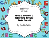 ReadyGen Unit 2 Module B Literacy Center Cards