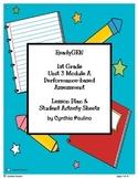 ReadyGen Unit 3 Mod A PBA Lesson Plan and Activity Sheets (1st Grade)