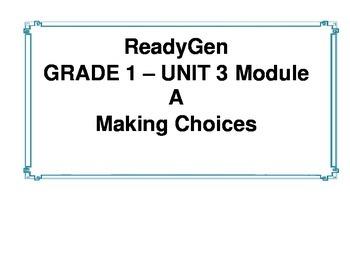 ReadyGen Unit 3 Module A Concept Wall 1st grade