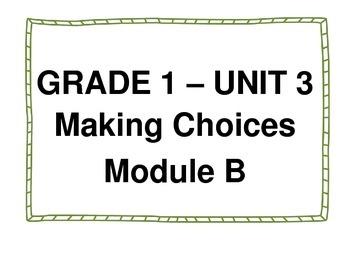 ReadyGen Unit 3 Module B Concept Wall 1st grade