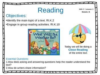 ReadyGen Unit 3 Module B - EDITABLE PowerPoint Lessons - Kindergarten