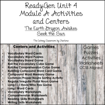 ReadyGen Unit 4 Module A Centers and Activities Second Grade