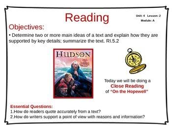 ReadyGen Unit 4 Module A - EDITABLE PowerPoint Lessons - Grade 5